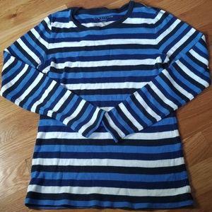 Blue/white striped 3/4 sleeve